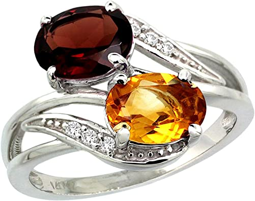 Gemstone Oval Shape 10k White Gold Pendant for Women Details about  /Citrine 2.2 Ct