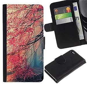YiPhone /// Tirón de la caja Cartera de cuero con ranuras para tarjetas - Feuille - Apple Iphone 4 / 4S