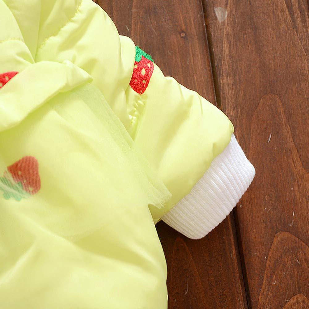 Lifestyler Kids Girl Winter Padded Cute Cotton Hooded Coat Fashion Long Sleeve Button Warm Jacket