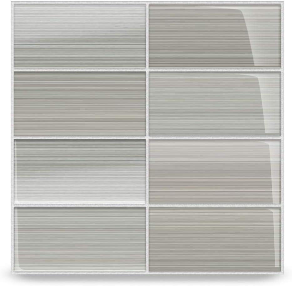 Classic Hand Painted Series Gainsboro Gray Glass Subway Tile Gainsboro For Kitchen Backsplash Or Bathroom Color Sample Amazon Com