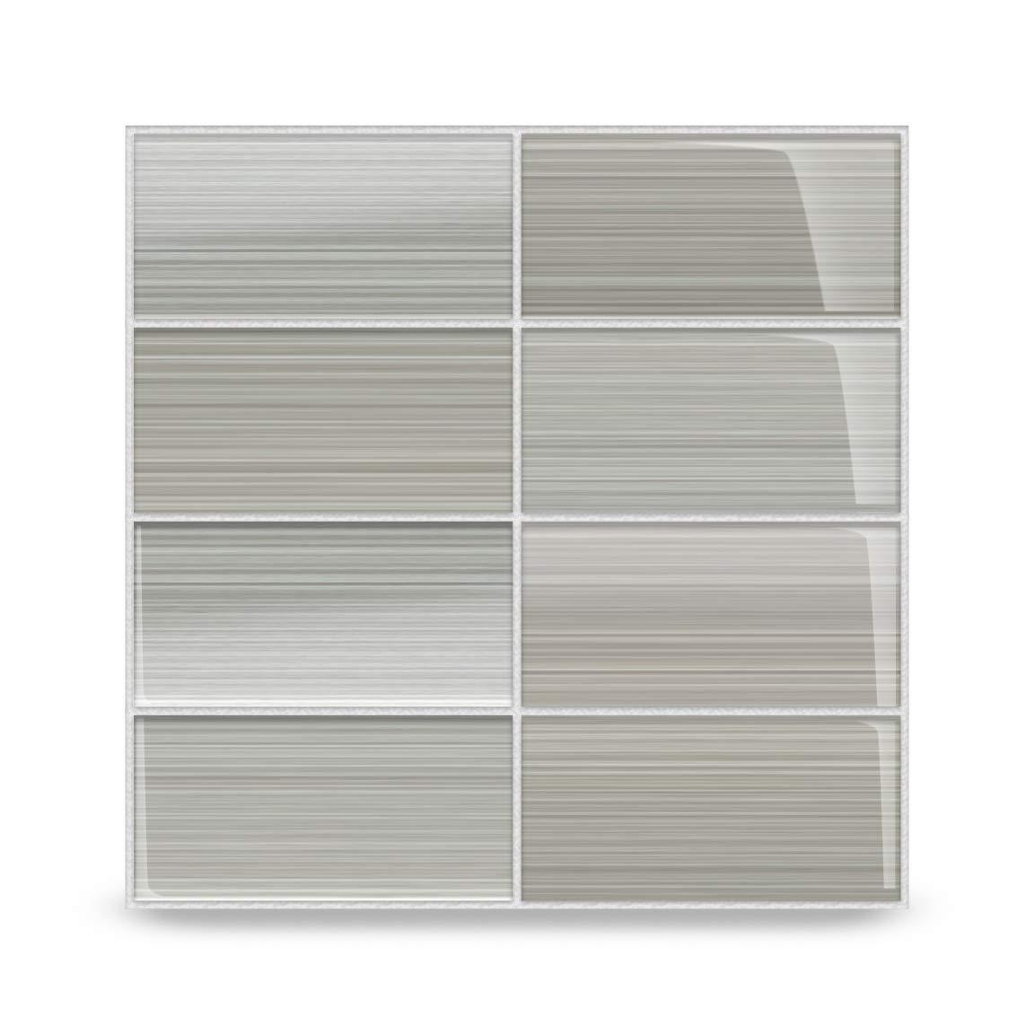 Gray Glass Subway Tile Gainsboro for Kitchen Backsplash or Bathroom from  Bodesi, 3x6