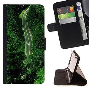 For Samsung Galaxy Note 5 5th N9200 Case , Verano Verde Esperanza Naturaleza Drive- la tarjeta de Crédito Slots PU Funda de cuero Monedero caso cubierta de piel