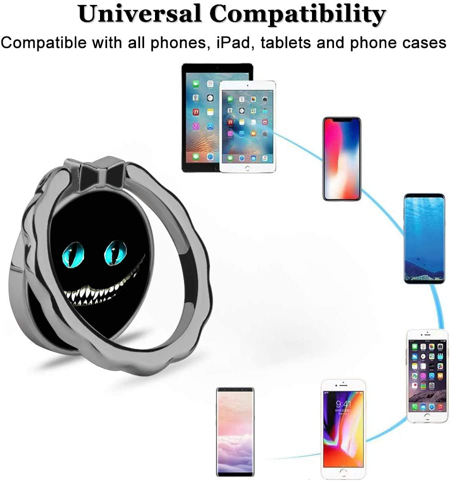 Samsung DISNEY COLLECTION Phone Ring Holder Stand Mickey Head 360 Degree Rotation Universal Metal Car Mount Finger Grip Compatible with iPhone LG All Smart Phones- Black.