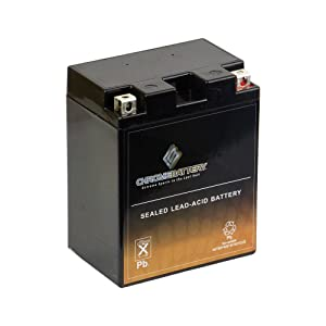 Chrome Battery YTX14AHL-BS Battery - Rechargeable, High Performance Power Sports, AGM, Replaces GTX14AHL-BS