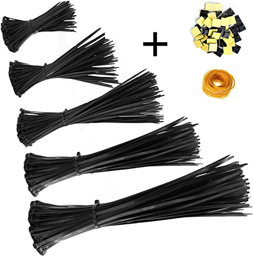 """12/"""" 12 PCS STAINLESS CABLE ZIP TIES STRAPS HANGING METAL GARDENING SUPPORT"""