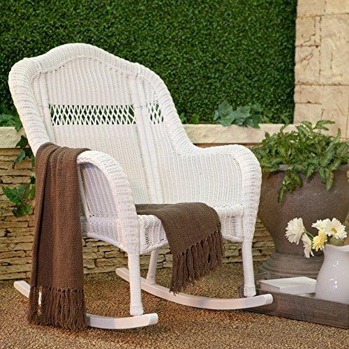 coral coast casco bay resin wicker rocking chair - White Wicker Chair