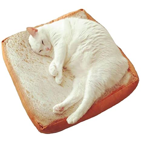 HomDSim - Almohada de cojín para gato suave, para cama de pan y mascotas,