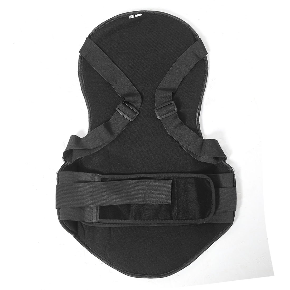 uxcell Black Motorcycle Street Sport Bike Protective Armor Back Spine Protector Guard L a16032200ux0823