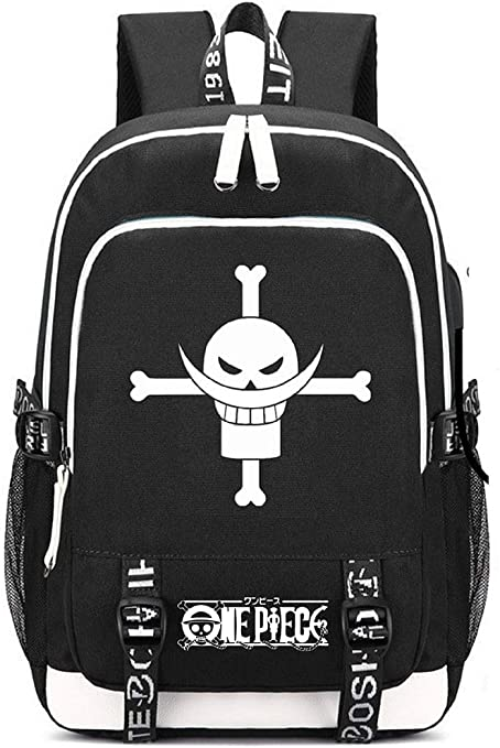 Siawasey Anime One Piece Cosplay Chopper Luffy Backpack Daypack Bookbag Laptop School Bag