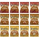 Honey Stinger GLUTEN FREE Waffle Variety Sampler Pack, 12 waffles, 4 Salted Caramel, 4 Wildflower (New Flavor), 4 Cinnamon