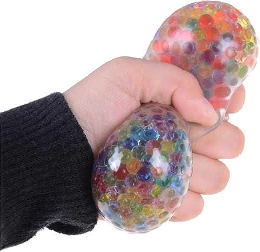 1 Bola de UVA Blanda de Malla antiestrés, apretable, para Adultos ...
