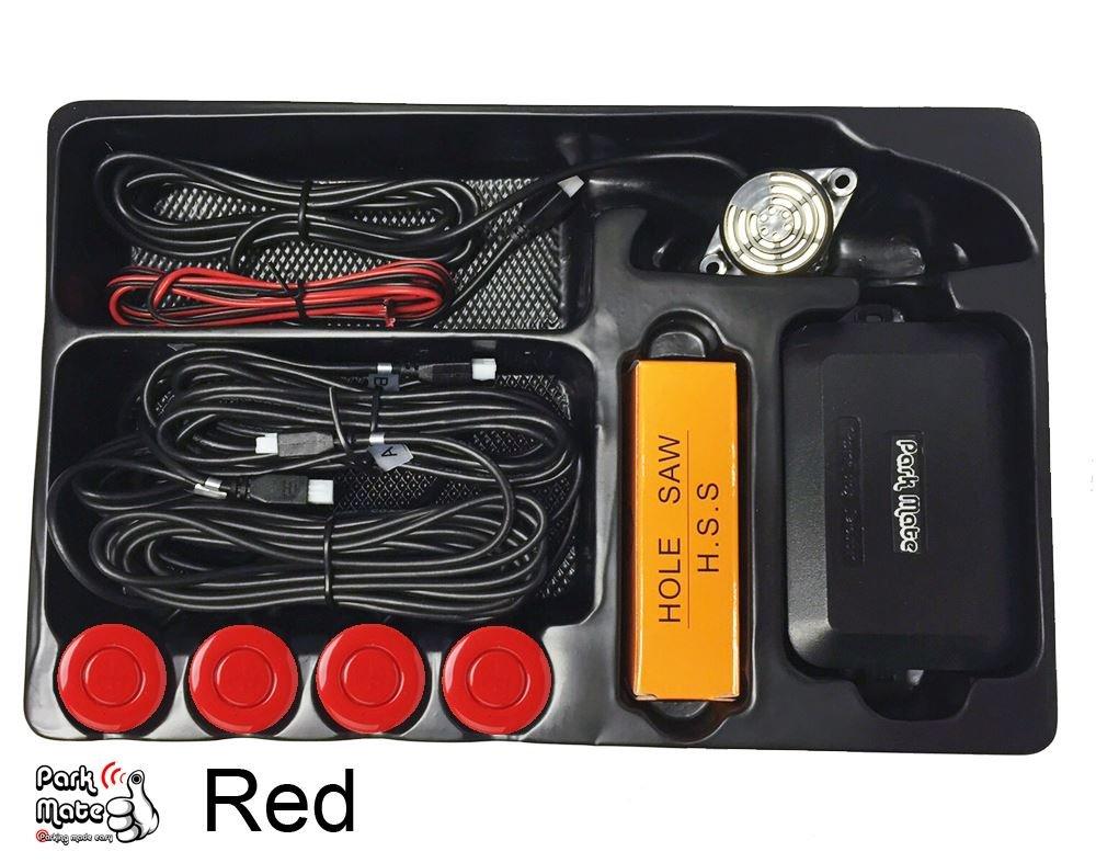 Vauxhall Corsa Park Mate PM100 Red Rear Reversing Parking Sensors Audio