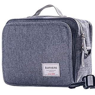 SUNVENO Diaper Bag Fashion Wet Bag Waterproof Diaper Bag Washable Cloth Diaper Baby Bag Reusable Wet Bags Organizer for Mom (Gray, L)
