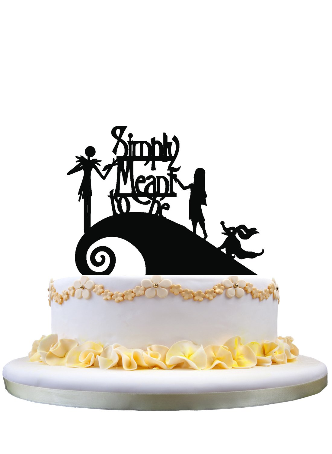 Jack and Sally Simply Meant To Be Wedding Cake Topper,Jack and Sally ...