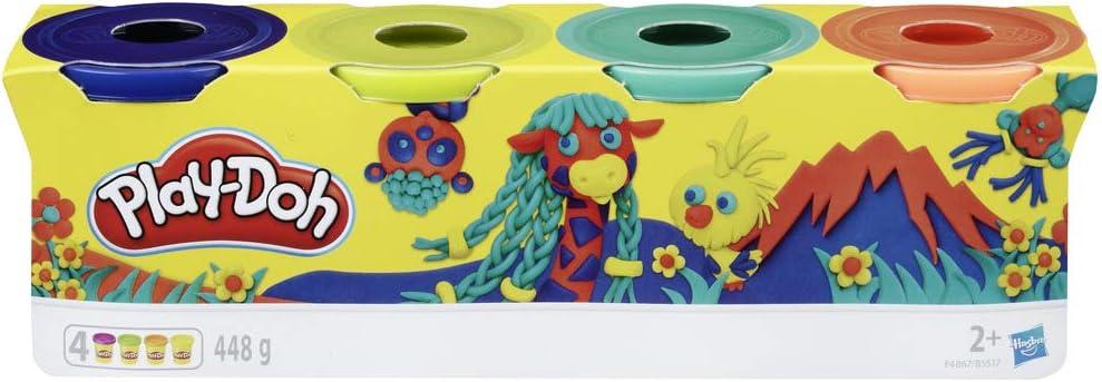 Play-Doh-Pack 4 Colores Silvestres, (Hasbro E4867ES0) , color ...