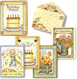 Birthday Wishes by Debbie Mumm – [ASN34638] Birthday Note Card Assortment by Leanin' Tree – 12 cards featuring a full-color interior and colorful envelope, Health Care Stuffs