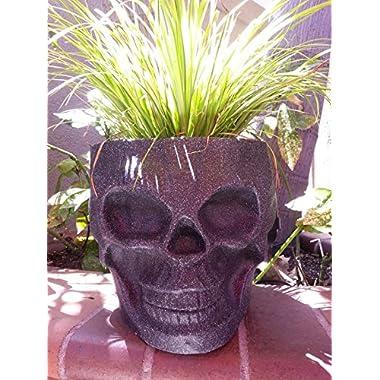 Skull Tiki Planter NEW COLOR {Black Granite}