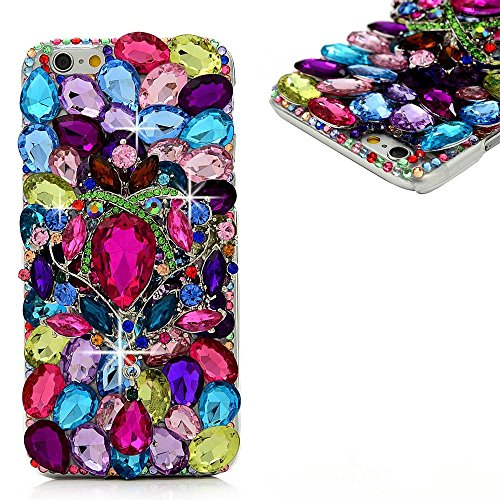 Spritech(TM) Bling Clear Phone Case For Iphone 7 Plus 5.5inch,3D Handmade Colorful Crystal Accessary Design Cellphone Hard Cover