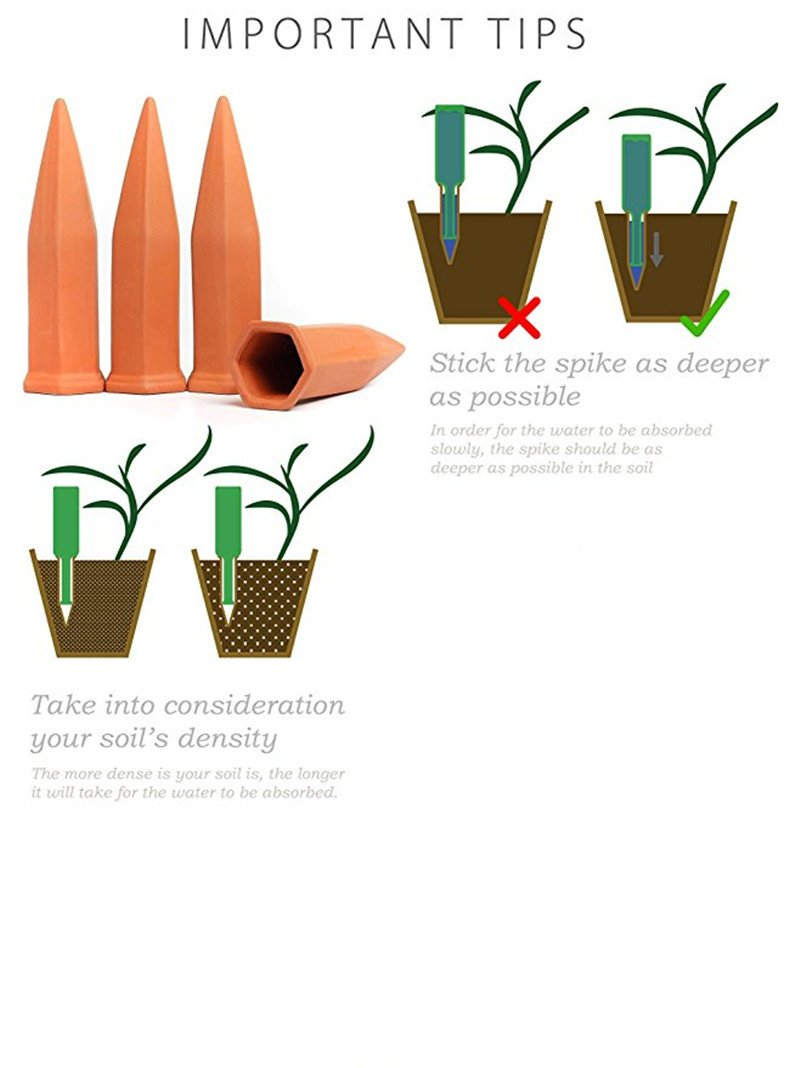 Momshand Plant Waterer Self Watering Spikes, Automatic Vacation Plant Watering Devices,Terracotta Wine Bottle Stake Set, Self Irrigation Watering System-Perfect for Indoor Outdoor Office Plant