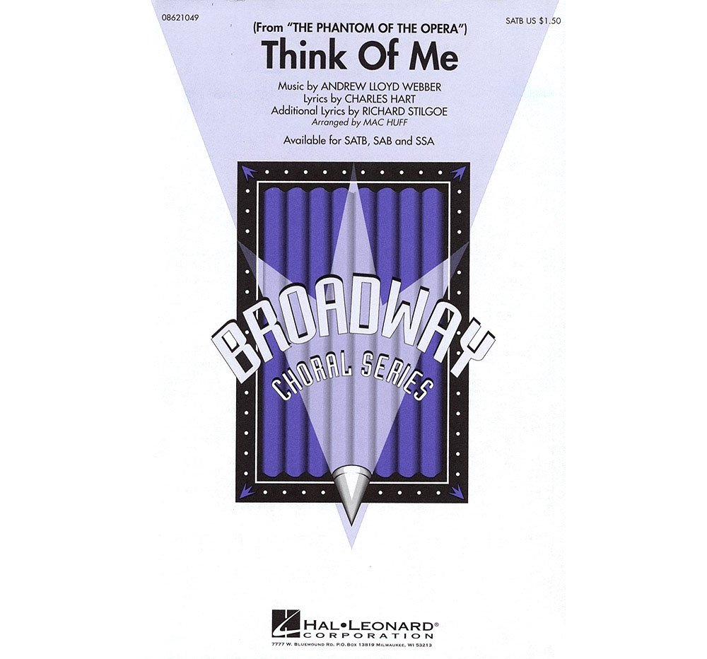 Download Hal Leonard Think of Me (from The Phantom of the Opera) SATB arranged by Mac Huff ebook