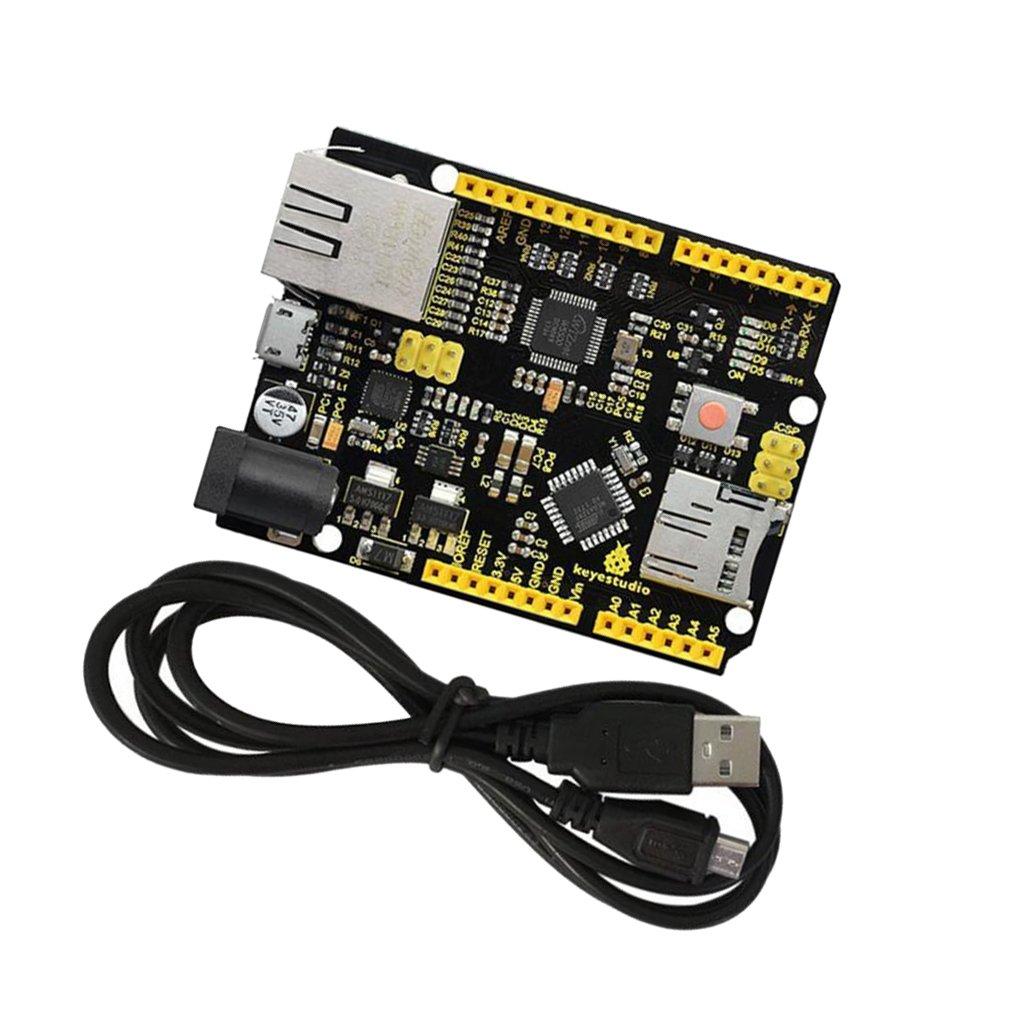 sans Poe Sharplace W5500 Carte De D/éveloppement Ethernet Avec Cble Usb Pour Arduino