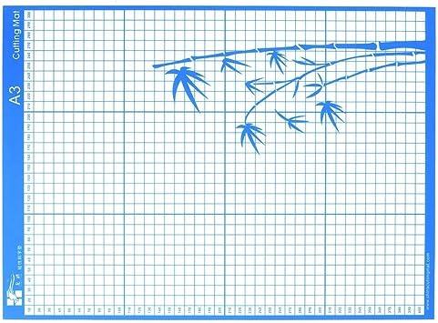 Basage Alfombrilla de Corte de Repuesto Alfombrilla Adhesiva de Agarre EstáNdar con Rejilla de MedicióN para la MáQuina Plotter de Corte Silhouette Cameo, A3: Amazon.es: Bricolaje y herramientas