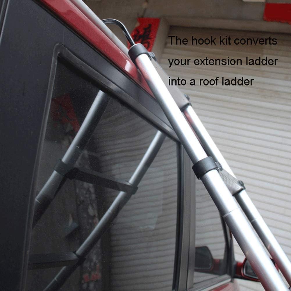 330 lbs Kapazit/ät,2,9 m//ft Hochleistungs-Loft-Diy-Verl/ängerungsleiter mit Fingerschutz LADDER Teleskopleitern Mehrzweck-Aluminium-Teleskopleiter mit Haken