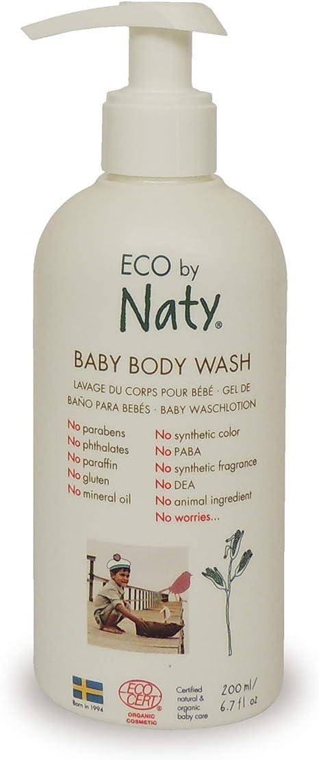 Gel de baño para bebé 0m+ Naty, 200 ml: Amazon.es: Bebé