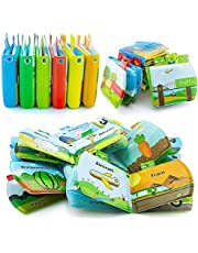 teytoy My First Bath Books, Waterproof Durable Soft Books Baby Bath Toys Early Education Toys for Toddlers, Infants and Kids 1 2 3 4 Years Old Perfect for Baby Shower -Pack of 6