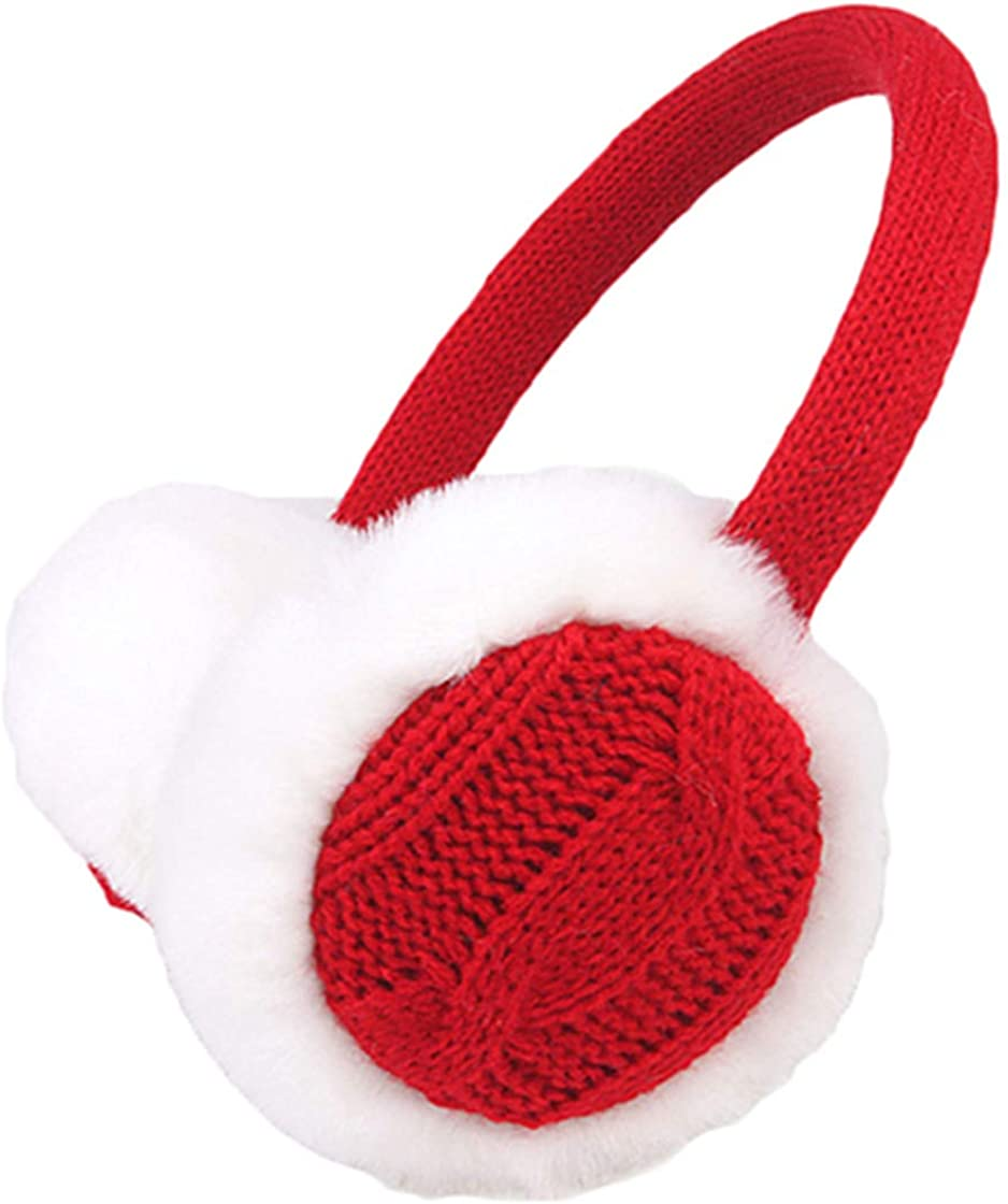 Women Winter Warm Knit Earmuffs Ear Warmers Headband