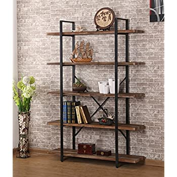 ou0026k furniture 5shelf industrial style bookcase and shelves free standing storage shelf units