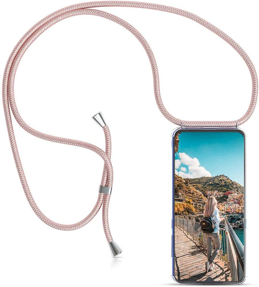 Carcasa de movil con Cuerda para Colgar Xiaomi Mi A2 Lite【Versión Popular 2019】 Funda para iPhone/Samsung/Huawei con Correa Colgante para Llevar en el Cuello -Hecho a Mano en Berlin[Oro Rosa]