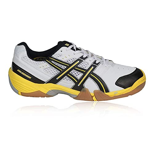 Asics Gel Domain Chaussures de Handball Homme Blanc Noir