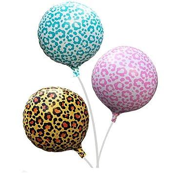 Pint Animal Balloon Zebra Leopard Print Foil Aluminum Helium