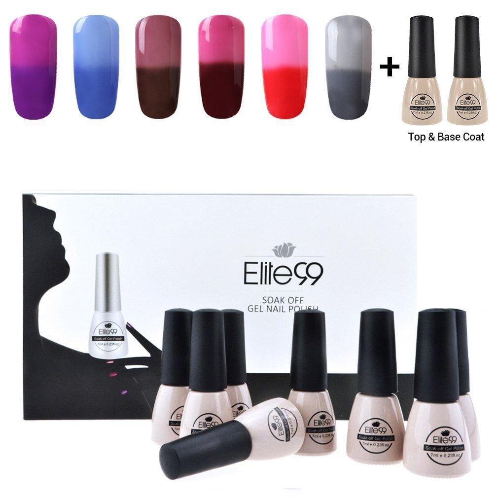 Elite99 Esmalte Semipermanente UV LED 8pcs Kit Uñas de Gel con ...