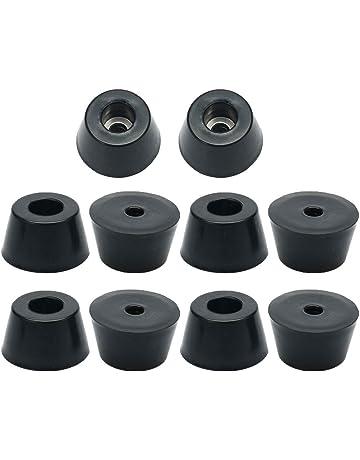 24 x Tropfenkappen Ø 10mm schwarz rund Schutzkappen Fusskappen Gleiter Kappe