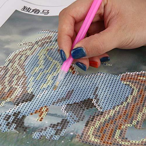 FinukGo 30 30cm 5D Kit di Pittura Diamante Fai-da-Te Unicorno Diamante Ricamo Mosaico Cucito Punto Croce Decorazione della casa Artigianato 9616 Colorato