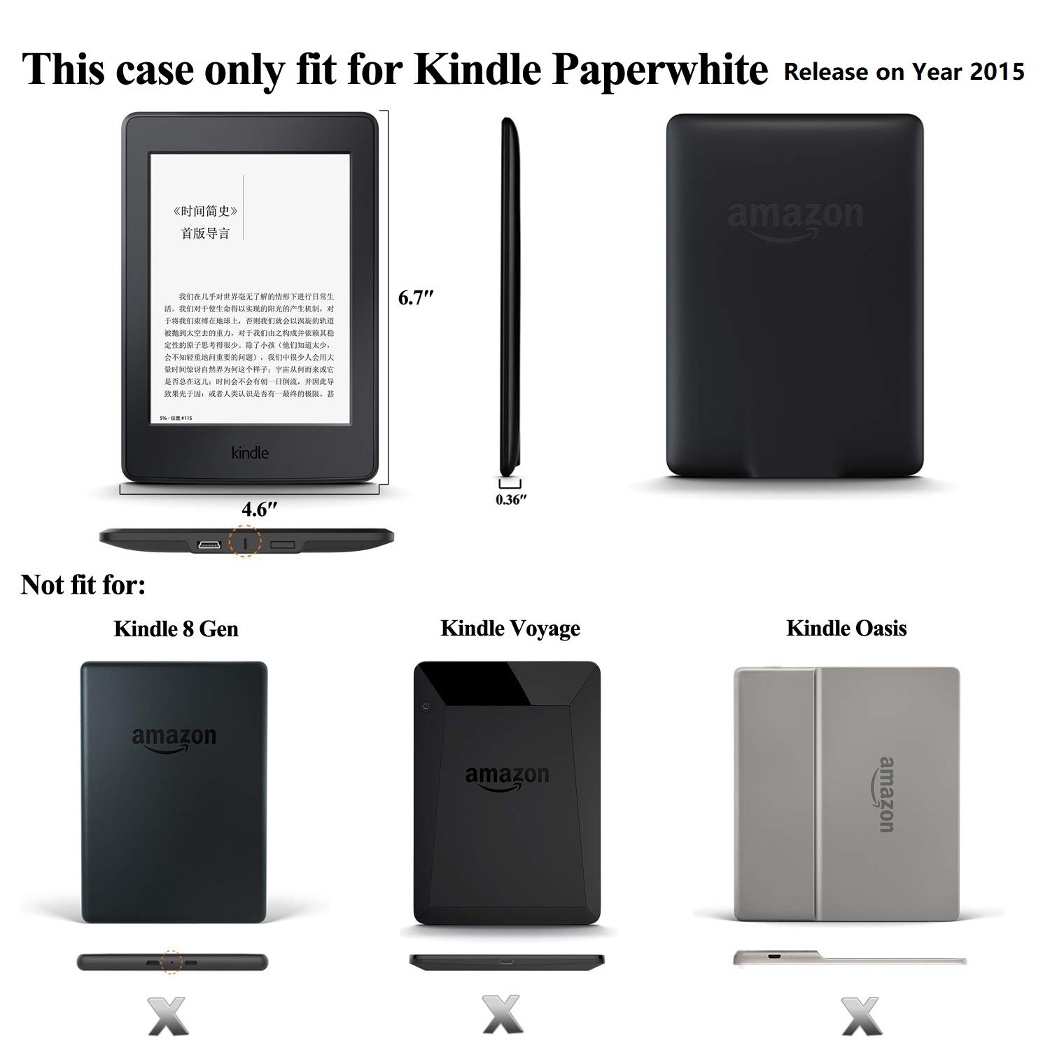 Amazon.com: NIFTYNOOK Leather Smart Case for Amazon Kindle ...