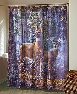 Cold Snap Deer Bathroom Shower Curtain