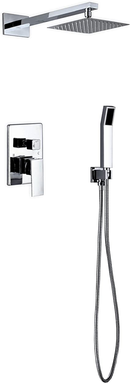 Aqua Piazza Diverter Complete Shower System With Lever Handle