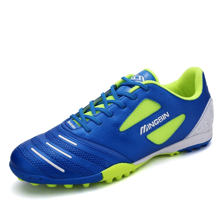 (ウィロース)VILOCYサッカースパイク メンズ ジュニア サッカーシューズ トレーニングシューズ レースアップ 軽量 通気 B072LKVZK5ブルー 22.5 cm