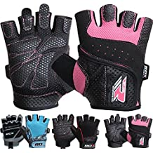 RDX Gym Weight Lifting Gloves Women Workout Fitness Ladies Bodybuilding Crossfit Breathable Powerlifting Wrist Support Strength Training Exercise