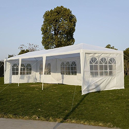VINGLI 10' x 30' Heavy Duty Canopy Tent Outdoor Party Wedding Tent,with 5 Removable...