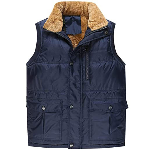 Aancy Fashion Sleeveless Jacket 2019 Men Thickening Vest Hat