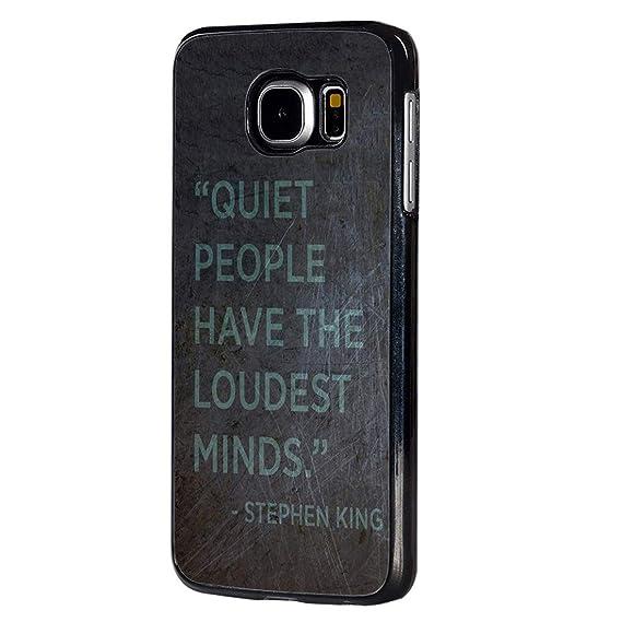 Amazon.com: Galaxy S6 Case,BOSLIVE Quotes Quiet People Have ...