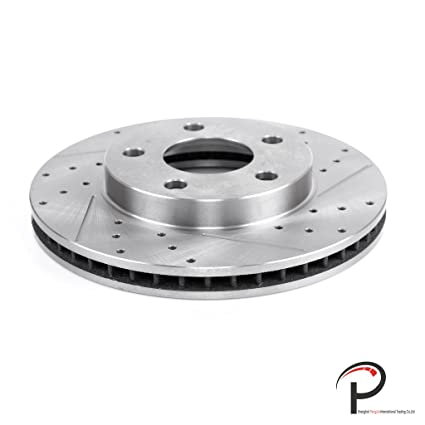 VioGi New 1pc Front Right Drilled Slotted Vented Brake Rotor Disc 5 Lugs For Oldsmobile 99