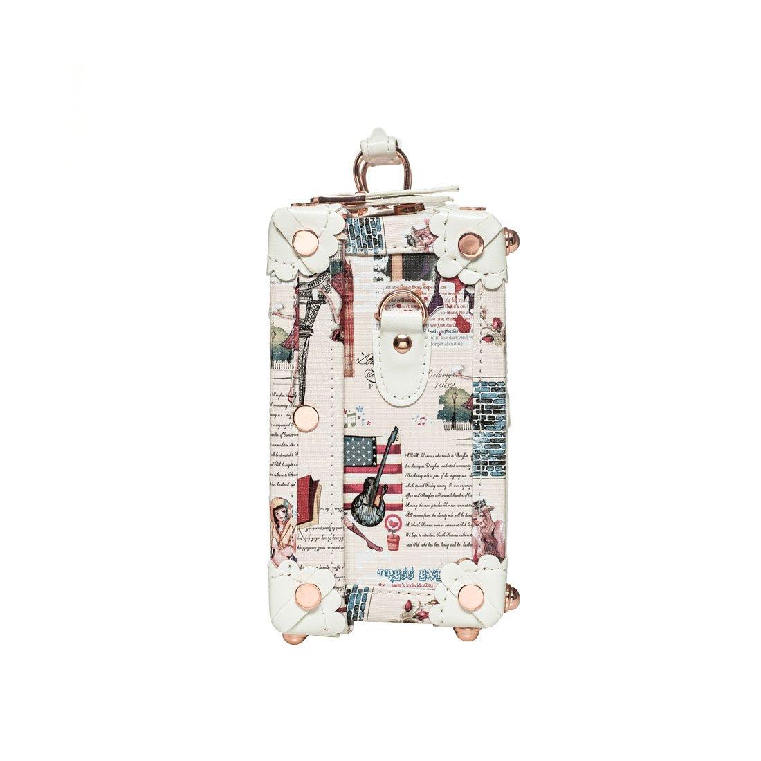 a8f599e693b2 ایگرد - خرید از آمازون | 13 Inch Women Pu Leather Small Suitcase ...