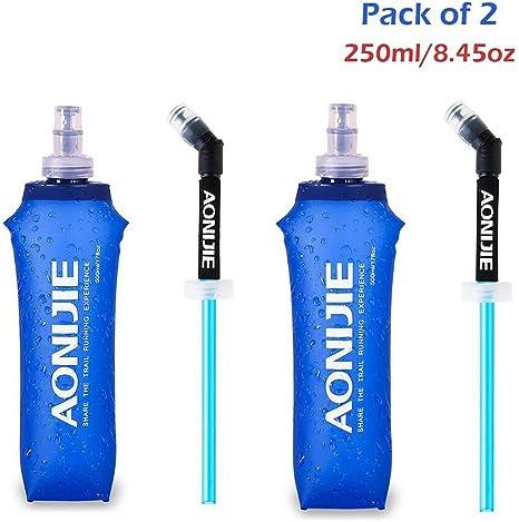 AONIJIE 500ml Foldable Running Water Kettle Soft Hiking Flask Hydration Bottle