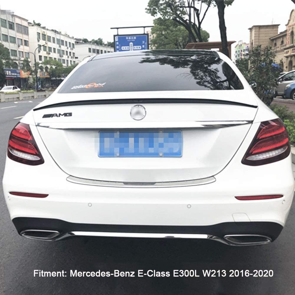 Punch Free Glued Adhesive ACEOLT Pr/ämie ABS Auto Spoiler Heckspoiler f/ür Mercedes-Benz E-Class E300L W213 2016-2020 schwarz