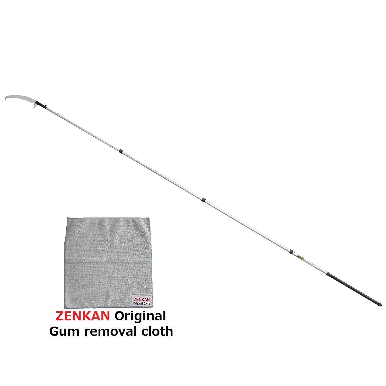 SILKY New Premium Model HAYAUCHI by ZENKAN 179-39, 21-Feet Telescopic Landscaping Pole Saw HAYAUCHI with ZENKAN Original Gum Removal Cloth (Japan Premium Limited Edition) (Reasonable Set)
